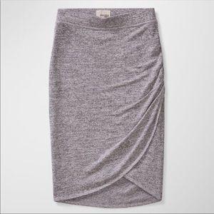 Aritzia Wilfred Free Tyra Skirt Grey Bodycon Wrap